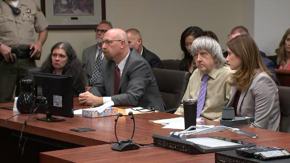 Louise, far left, and David Turpin, second from right, were sentenced in court Friday.