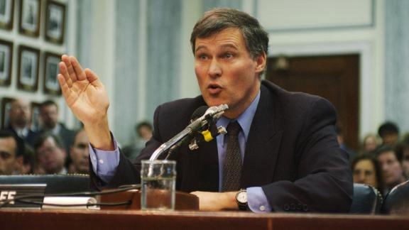 Inslee testifies to the Senate Commerce Committee during a hearing on global warming in 1993. Inslee has focused on climate change for decades, and he compares tackling the issue to President John F. Kennedy