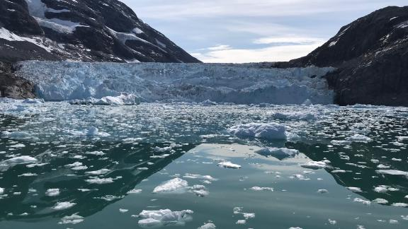 Tidewater glacier in Southeast Greenland, summer of 2018