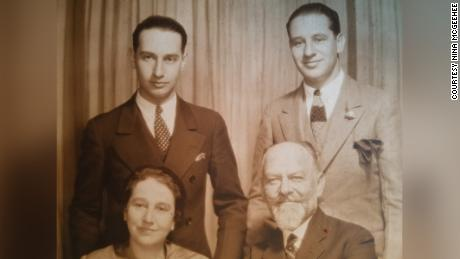 Siegfried Laemmle, bottom right, was a successful art and antiquties dealer before the Nazi regime forced him to liquidate his business.