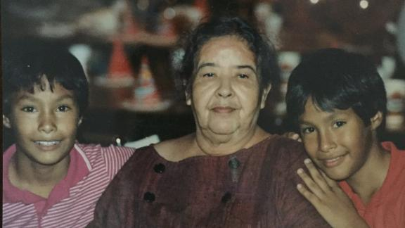 """Castro and his brother pose with their grandmother, Victoria Castro, <a href=""""https://twitter.com/JulianCastro/status/934163894490234880"""" target=""""_blank"""" target=""""_blank"""">on the day they turned 12.</a> She crossed into the United States at Eagle Pass, Texas, in 1922."""
