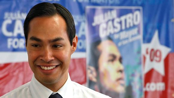 Castro smiles at his campaign headquarters in 2009. He became mayor that year and won re-election in 2011 and 2013.
