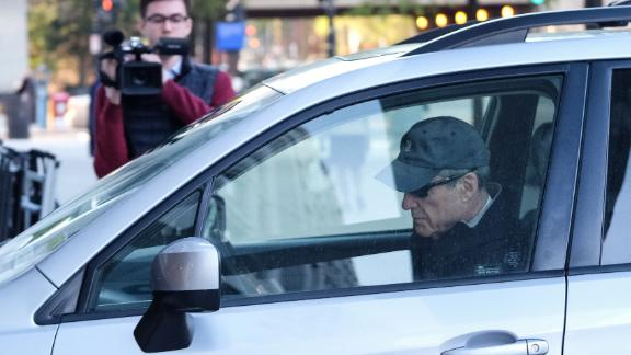 Robert Mueller, special counsel for the U.S. Department of Justice, arrives in a vehicle to his office in Washington, D.C., U.S., on Wednesday, April 17, 2019. Attorney GeneralWilliam Barris expected to send Mueller