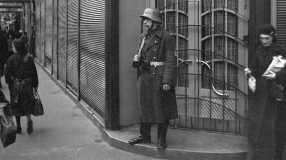 A guard stands outside Schiffmann