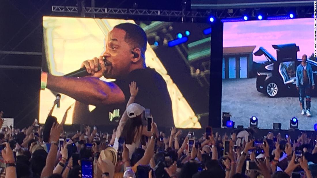 Will Smith joins Jaden Smith on stage at Coachella