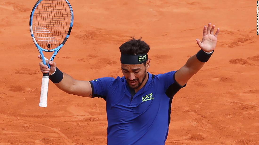 Rafael Nadal suffers shock defeat to Fabio Fognini