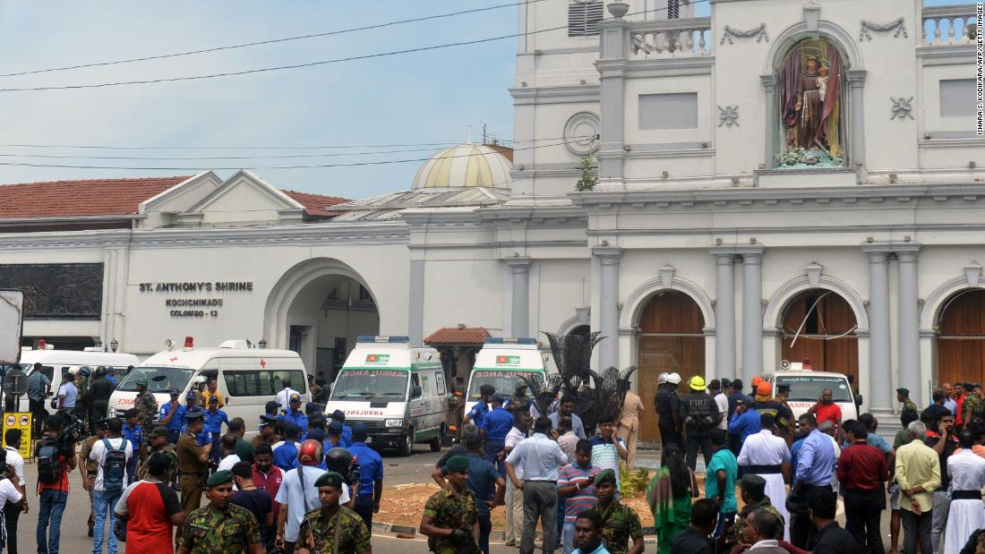 Sri Lanka explosions rock churches and hotels, police say