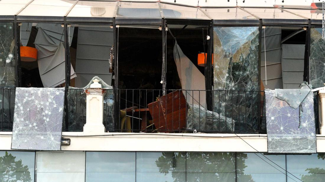 Colombo's Kingsbury Hotel was targeted by a blast.