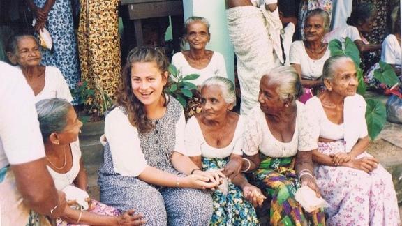 Elana Rabinowitz volunteering in Sri Lanka in the mid 1990s.
