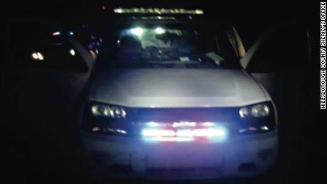 The 2007 white Chevrolet Trailblazer who tried to raid a detective underground.