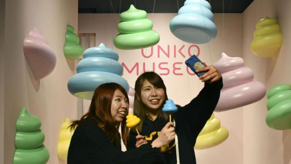 Asobuild entertainment facility opens in Yokohama, near Tokyo, on March 15, 2019, including temporary Unko Museum Yokohama poop-themed attraction through July 15. (Kyodo) ==Kyodo (Photo by Kyodo News via Getty Images)