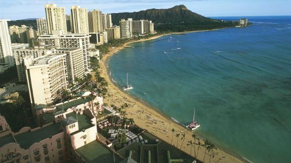 Waikiki Beach, Oahu Island, Hawaii, United States of America.