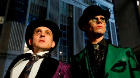 Robin Lord Taylor and Cory Michael Smith in 'Gotham'