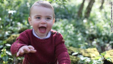 Catherine, Duchess of Cambridge, took this photo of Prince Louis on the grounds of Anmer Hall, the family's home in Norfolk, England.