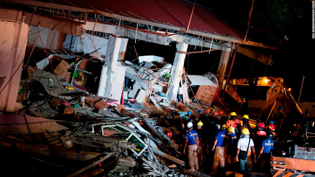 Death toll rises to 16 after 6.1-magnitude earthquake in Philippines