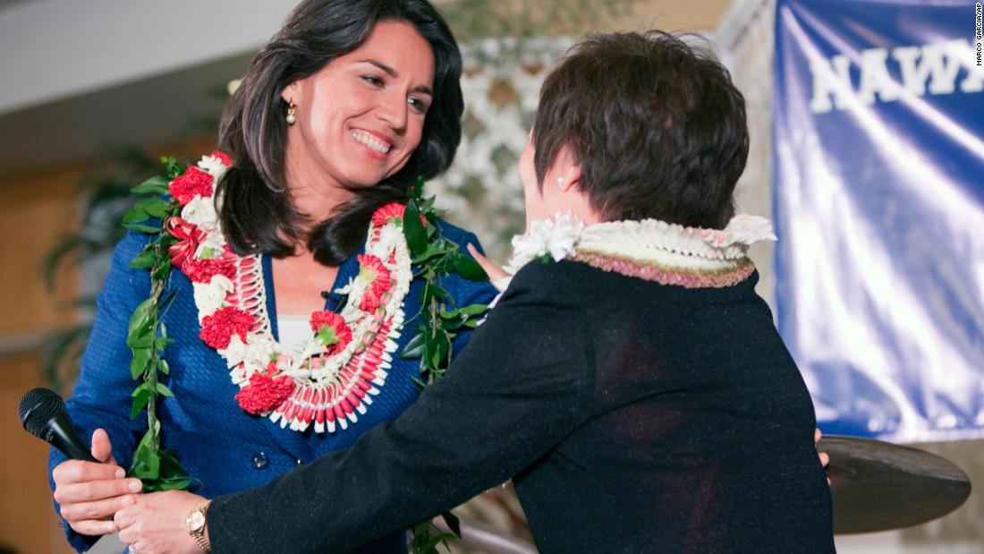 Gabbard is congratulated after winning her congressional race in November 2012.