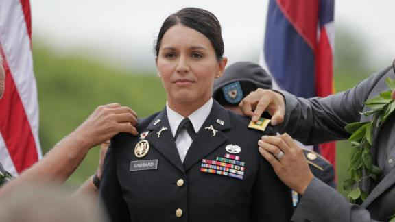 The Hawaii Army National Guard promoted Gabbard to major in 2015.
