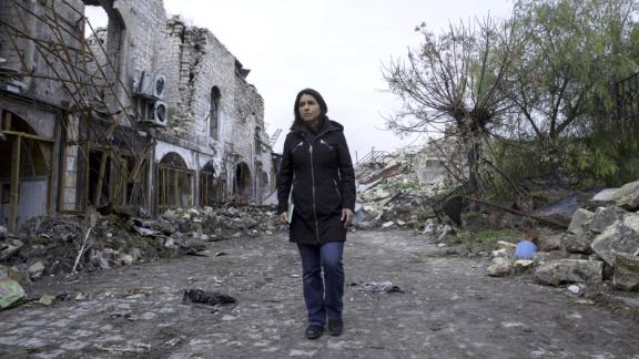 Gabbard visits Syria in 2017. She told CNN's Jake Tapper that she met with Syrian President Bashar al-Assad during her unannounced four-day trip.