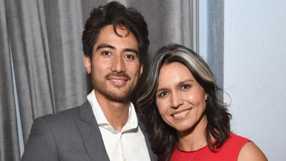 Gabbard and her husband, Abraham Williams, attend a charity event in Los Angeles in January 2019.