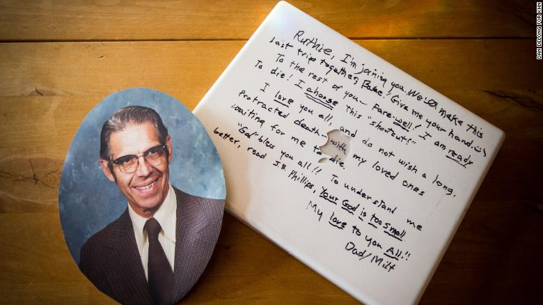 Milt Andrews, 90, left behind a note written in black marker on the cover of his laptop computer.