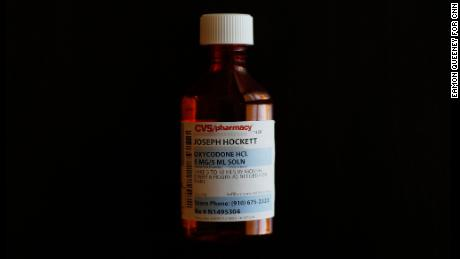 A look at an oxycodone recipe for Joseph Hockett. Image changed to blur the personal details.