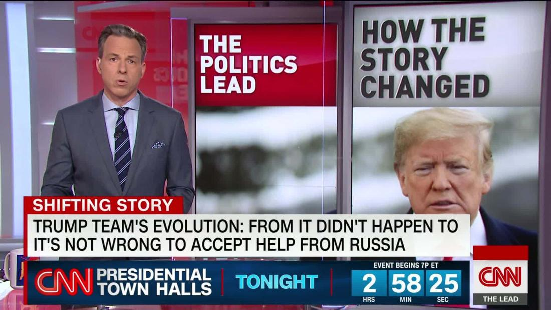 Trump team on help from Russia: From 'it didn't happen' to 'it's not wrong to accept'