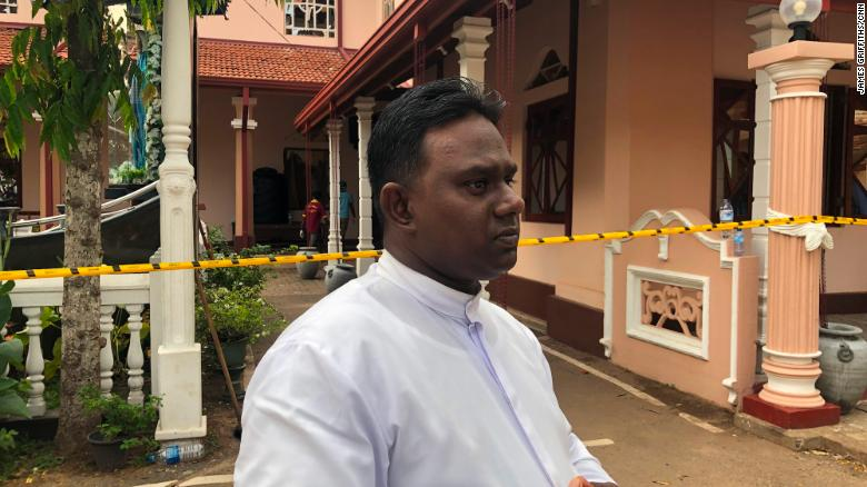 Father Sanjeewa Appuhamy was celebrating Easter Mass when the bombing happened.