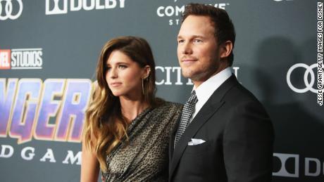 "Katherine Schwarzenegger and Chris Pratt attend the premiere of ""Avengers: Endgame"" in Los Angeles in April."