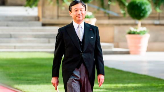 Japanese Crown Prince Naruhito smiles as he leaves the Notre-Dame cathedral of Luxembourg after the religious marriage of Crown Prince Guillaume of Luxembourg and Belgian countess Stephanie de Lannoy, on October 20, 2012, in Luxembourg. Crowned heads of Europe and ordinary citizens gathered for Luxembourg