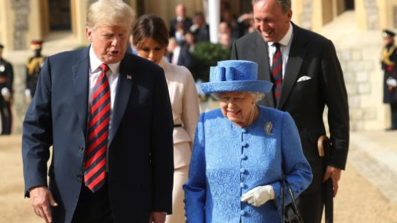 President Trump previously met the Queen during his first official visit to the UK last July.