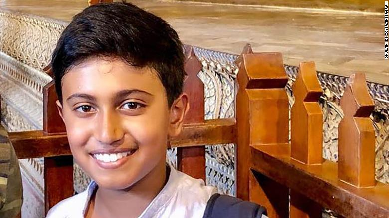 Kieran Shafritz de Zoysa, 11, had been staying in Sri Lanka for a year with his mother, his father says.
