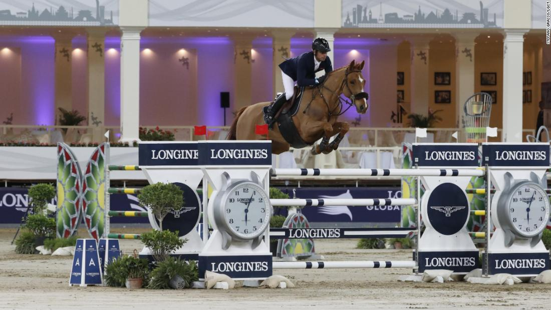 France's Julien Epaillard and Usual Suspect d'Auge raced to victory in the jump-off in the season opener in Doha.