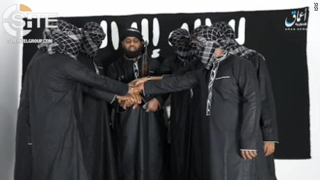 On Tuesday, a video released by ISIS showed 8 men purported to be the Sri Lankan attackers pledging allegiance to the terror group. All of the men have their hands placed together and are masked, except one. That man, identified as Zahran Hashim, is leading them, reads the caption by ISIS Amaq news agency.