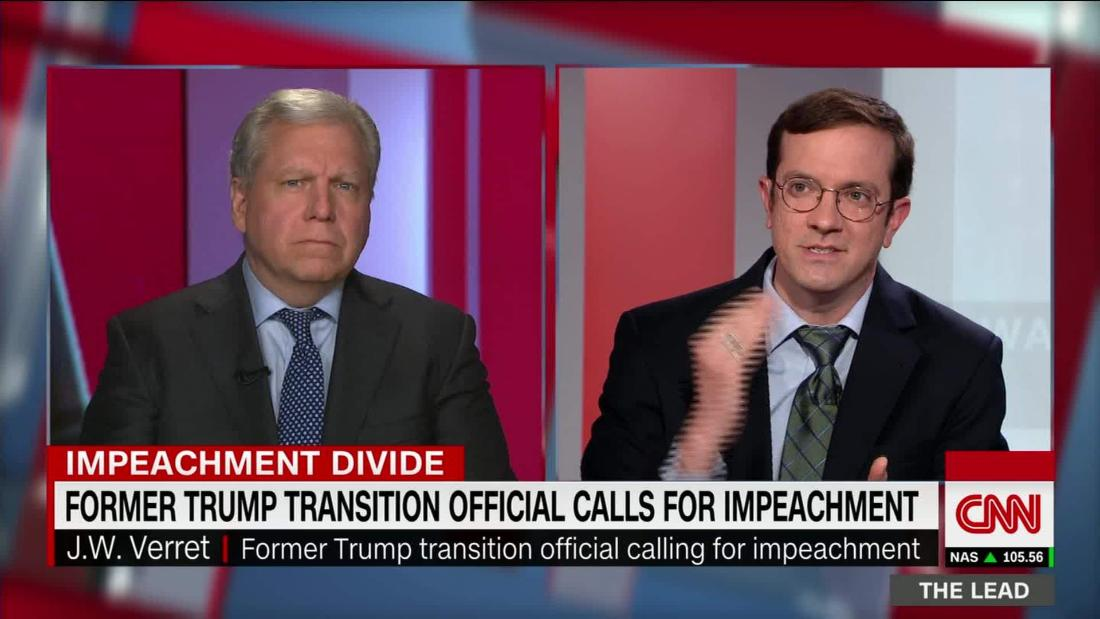 Why does a former Trump transition official think it's time for impeachment?