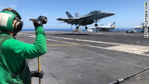 In the Mediterranean, US aircraft carrier operations serve as floating American diplomacy