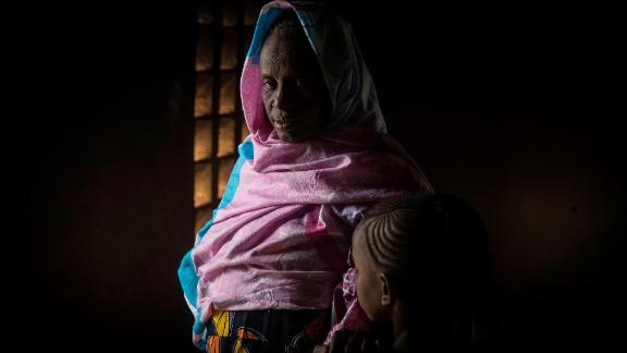Maimouna Barry, 45, with her daughter Hawa, 10. Maimouna lost her youngest daughter during the attack on her ancestral village of Ogossagou-Peulh in Bankass, Mopti region. Seven-year-old Aminata died while trapped inside the family home when flames began to consume it.