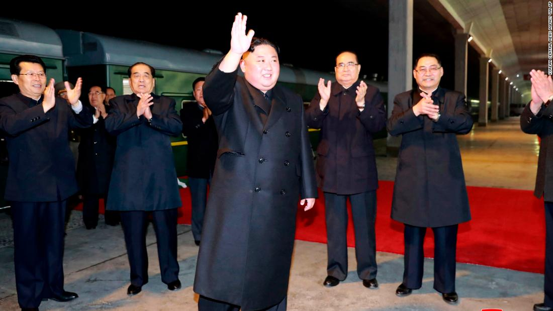 Video shows Kim Jong Un arrival ahead of Putin meeting