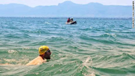 Martin Hobbs, 45, swam for 54 days in a row to set two world records and raise money for the Smile Foundation
