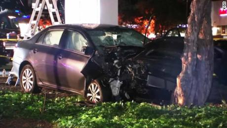 Several injured after driver plows into pedestrians