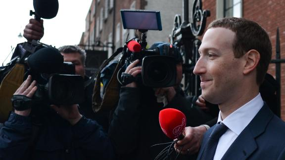Facebook Chief Executive Officer and founder, Mark Zuckerberg, leaving the Merrion Hotel in Dublin after meeting with Irish politicians to discuss regulation of social media, transparrency in political advertising and the safety of young people and vulnerable adults.