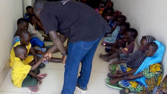 Some of the children rescued in the operation lead by Interpol between Nigeria and the Republic of Benin
