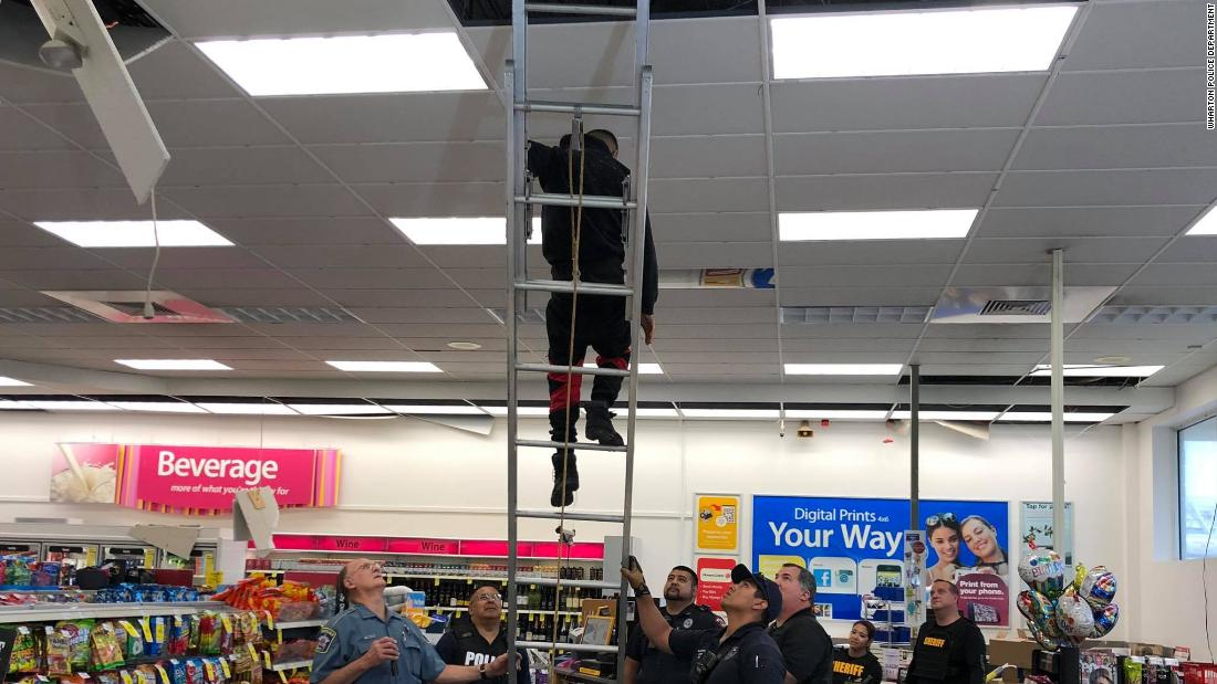 Police responded to a possible burglary at a Texas CVS. Then they found four people hiding in the ceiling