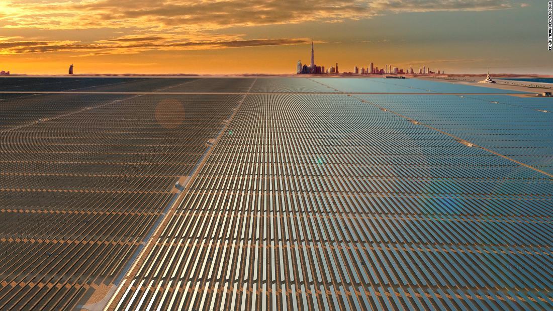 $13.6B record-breaking solar park rises from Dubai desert