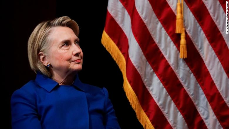 Former Secretary of State Hillary Clinton during an event at Barnard College, January 7, 2019 in New York City.