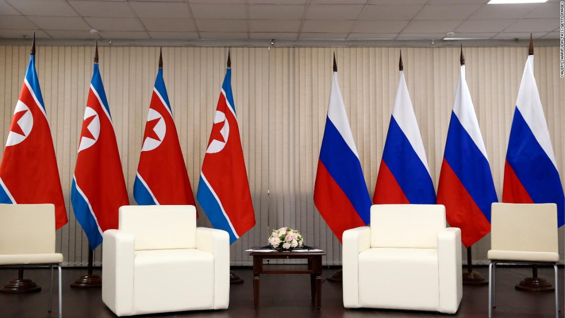Preparations for a Russia - North Korea summit at the Far Eastern Federal University (FEFU) on Russky Island on Thursday.
