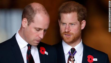 LONDON, UNITED KINGDOM - APRIL 25: (EMBARGOED FOR PUBLICATION IN UK NEWSPAPERS UNTIL 24 HOURS AFTER CREATE DATE AND TIME) Prince William, Duke of Cambridge and Prince Harry attend an Anzac Day Service of Commemoration and Thanksgiving at Westminster Abbey on April 25, 2018 in London, England. Anzac Day commemorates members of the Australian and New Zealand Army Corps who died during the Gallipoli landings of 1915. (Photo by Max Mumby/Indigo/Getty Images)
