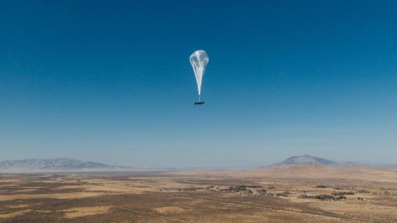 The balloons can carry equipment that beams internet on the people below.