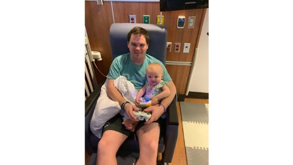 David Green will now be able to stay with his daughter, Kinsley, after teachers donated their sick days.