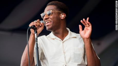 Leon Bridges performs during the 2017 New Orleans Jazz & Heritage Festival (Photo by Erika Goldring/Getty Images)