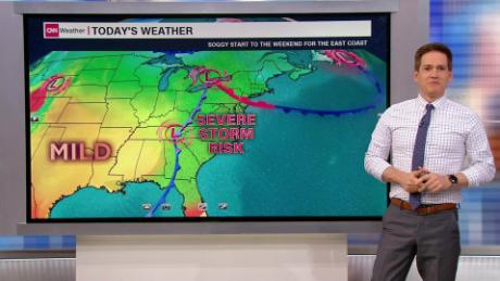 Severe weather threatens the East Coast